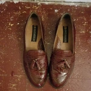 Stacy Adams Genuine Snakeskin Loafers/Shoes